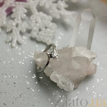 Кольцо из белого золота с бриллиантом Единственная R 0708