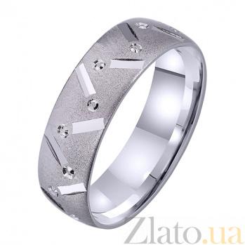 Женское обручальное кольцо Крылатая любовь из белого золота TRF--422322