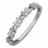 Кольцо из белого золота с бриллиантами Бриония