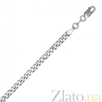 Серебряная цепь Арес с родированием, 4 мм, 70 см 000027623