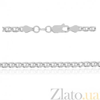 Серебряная цепь Бремен с родированием 000030863