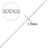 Серебряная цепочка Дантин в плетении гурме, 1,5мм