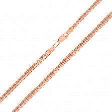 Золотая цепочка Эдверта в красном цвете с алмазной гранью, 2,75 мм