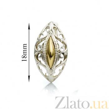 Серебряные серьги с золотыми вставками Лейла 000030110