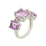 Серебряное кольцо с аметистами Марселлет