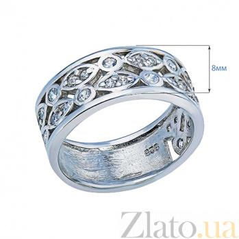 Серебряное декоративное кольцо с цирконами Аделаида AQA--S218550319