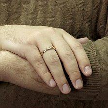 Обручальное кольцо из золота Вечная любовь