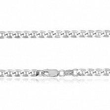 Серебряная цепь Киан с родированием, 2 мм