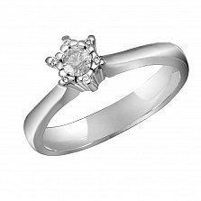 Кольцо из белого золота Мелисента с бриллиантами