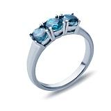 Серебряное кольцо Божена с лондон топазом