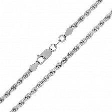 Серебряная цепь Шанхай с родием, 2 мм