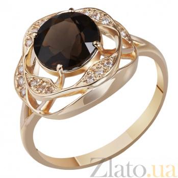 Золотое кольцо с раухтопазом Полночь AUR--31759 04_3.98