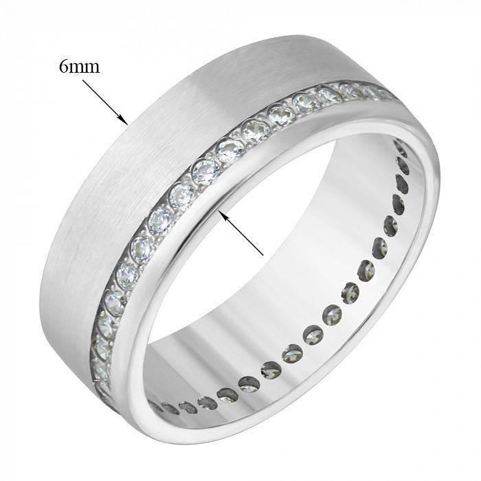 Обручальное кольцо с цирконием Счастливая любовь 000006348