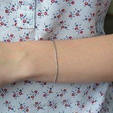 Серебряный браслет Квинсет с родиевым покрытием