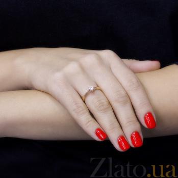Кольцо в красном золоте Эльмира с фианитом 000097433