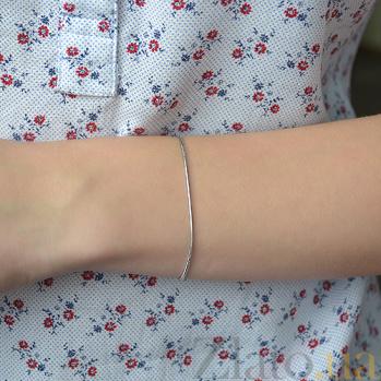 Серебряный браслет Квинсет с родиевым покрытием 000052989