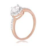 Позолоченное серебряное кольцо с цирконием Вильдана