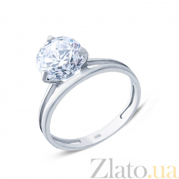 Серебряное кольцо с цирконом Царица AQA--1367