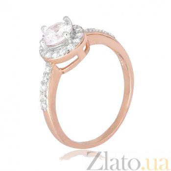 Позолоченное серебряное кольцо Ривьера с цирконием  000028410