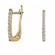 Серьги из желтого золота Иннес с бриллиантами