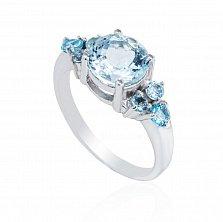 Серебряное кольцо Софи с аквамаринами