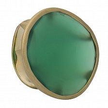 Золотое кольцо Актинис с зеленым халцедоном