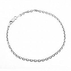Серебряный браслет с родием, 2,5 мм 000025991