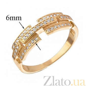 Золотое кольцо с фианитами Кристина 12212 с