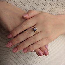 Золотое кольцо Гарнет с аметистом