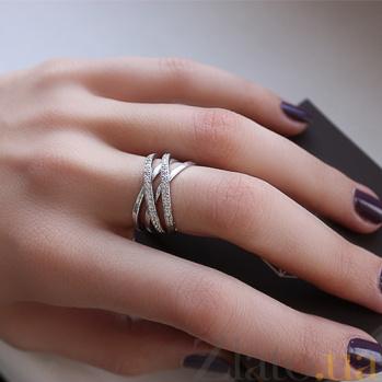 Серебряное кольцо четыре в одном с фианитами Клео 000032458