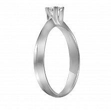 Кольцо из белого золота Счастье с бриллиантом