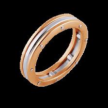 Кольцо Линии судьбы из красного и белого золота (мужское)