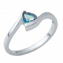Серебряное кольцо Афродита с мистик топазом