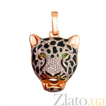 Подвес Голова гепарда из красного золота VLT--Т381-2