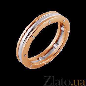 Кольцо Линии судьбы из красного и белого золота (мужское) PRT--WR2018-26