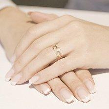 Кольцо из красного золота Любовь