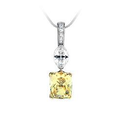 Золотой подвес с топазом, цитрином и бриллиантами Маркиз