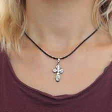 Серебряный крестик ИНЦИ с чернением