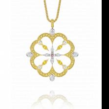 Кулон Argile-Q с бриллиантами и желтыми сапфирами