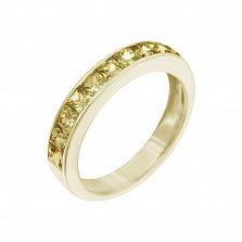 Кольцо из желтого золота Лунный свет с желтыми сапфирами