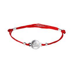 Шелковый браслет с серебряной вставкой 000007487