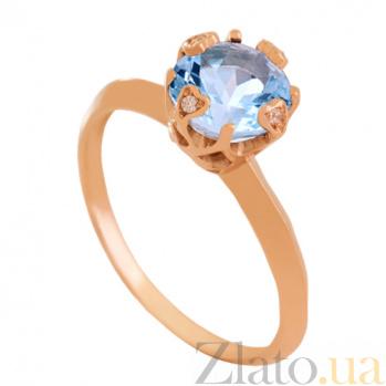 Золотое кольцо с топазом и фианитами Милдред VLN--112-1799-1