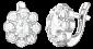 Серебряные серьги с фианитами Флора SLX--С2Ф/033