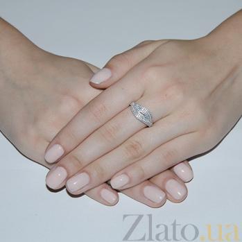 Кольцо с белыми фианитами Ксу 2181.1