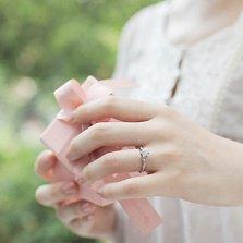 Кольцо в белом золоте с бриллиантом Рождение любви, 0,25ct