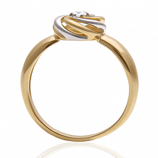 Золотое кольцо с бриллиантом Ванесса