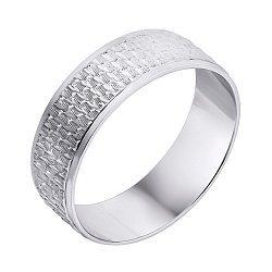Серебряное обручальное кольцо 000140550