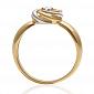 Золотое кольцо с бриллиантом Ванесса 000029384