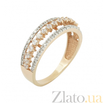 Золотое кольцо с фианитами Ольга В666-ММ1628