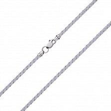 Светло-серый шелковый шнурок Ветер с серебряной застежкой,3 мм